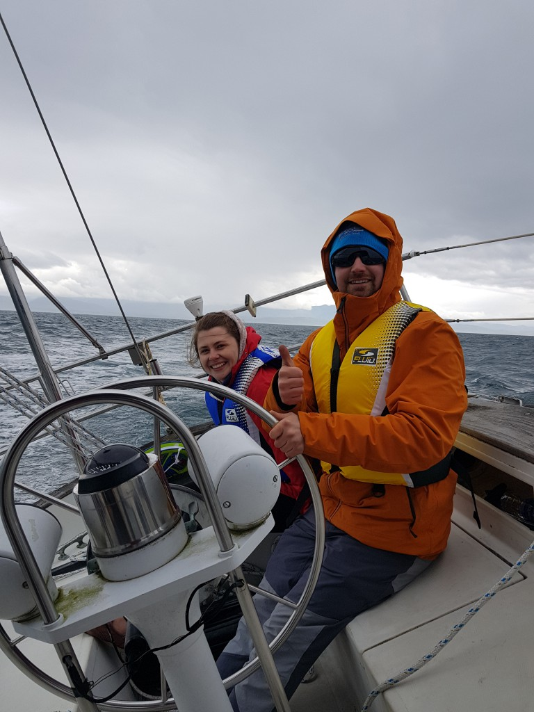 Madeleine and Bryn at the Helm