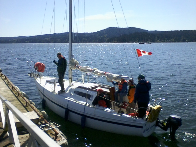 Arriveing at the dock in Windborne during a Itrduction to Sailing Class